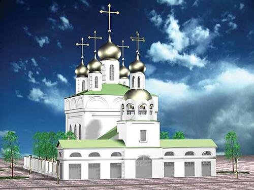Рис. 2.3б. Утраченные памятники истории: Благовещенская церковь