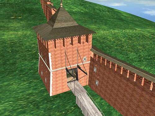 Рис. 2.3г. Утраченные памятники истории: Зачатьевская башня Кремля