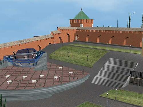 Рис. 2.7. Георгиевская башня Нижегородского Кремля. Проект кафе
