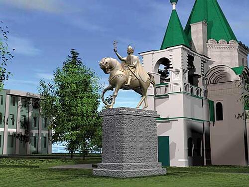 Рис. 2.8. Проект памятника основателю Нижнего Новгорода князю Юрию Всеволодовичу