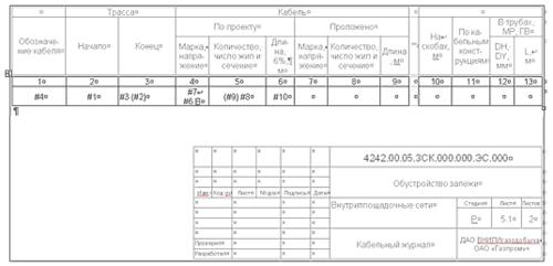 Рис. 9. Пример выходного документа, полученного в автоматическом режиме на основе расчетов