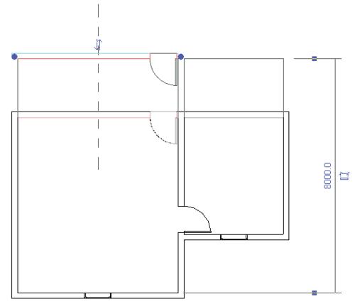 Рис. 7. С перемещением одной стены автоматически изменяются присоединенные стены