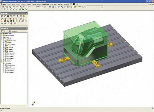 Рис. 1. SolidCAM Autodesk Inventor