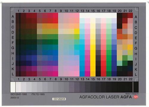 Рис. 5. Стандартная мишень IT8 для цветовой калибровки сканера