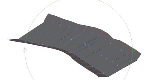 Рис. 5. Участок канала - вид в 3D