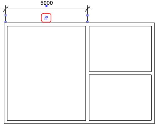 Рис. 6. Размерная зависимость с фиксацией значения размера