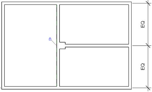 Рис. 17. Зафиксируйте связь между колонной и стеной с помощью инструмента Выравнивание (Align)