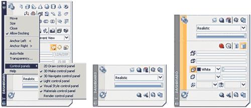 Рис. 2. Настройка интерфейса Dashboard