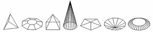 Рис. 16. Пирамидальные твердые тела