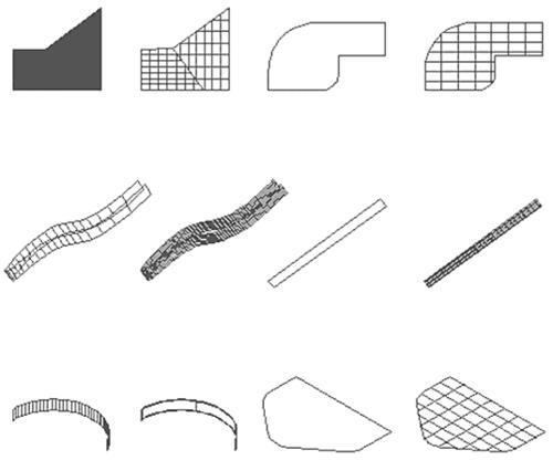 Рис. 30. Преобразование различных примитивов в поверхности