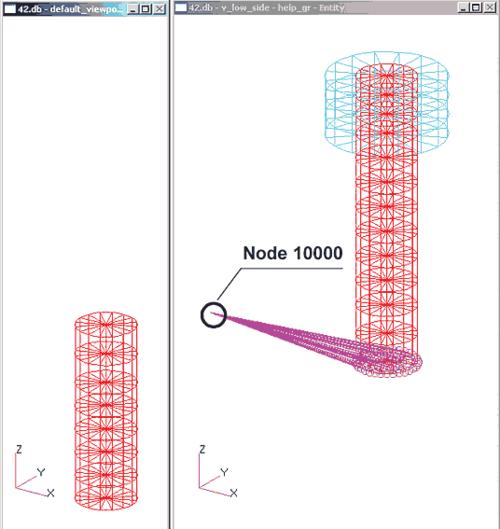 Рис. 7. Графическое изображение MPC на расчетной схеме
