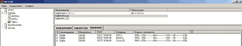 Рис. 7. Привязки виртуальных компонентов к объектам PLANT-4D