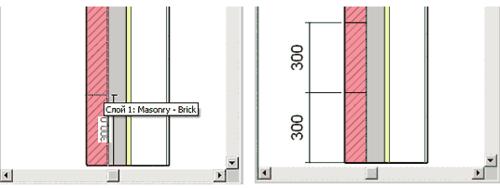 Рис. 4. Разбиваем слой Masonry - Brick сначала на две части, а потом на три
