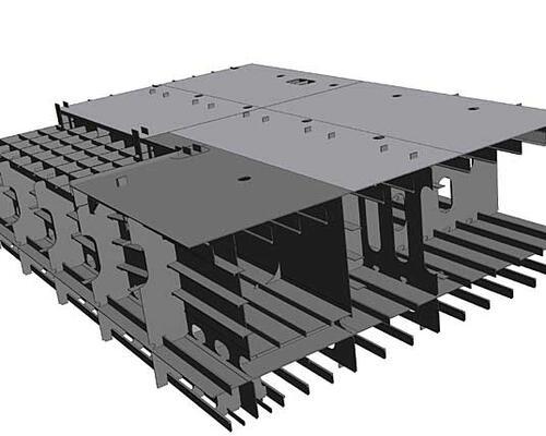 Рис. 1. Результаты трансляции части 3D-модели корпуса из САПР Tribon в Autodesk Inventor