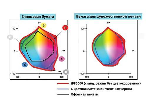 Рис. 2. Улучшенная цветопередача при применении цветных чернил специальной формулы