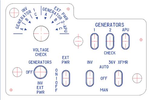 Рис. 2. Пример детали, на которой контуры надписей выполнены как непосредственные геометрические носители для разработки управляющих программ для станков с ЧПУ