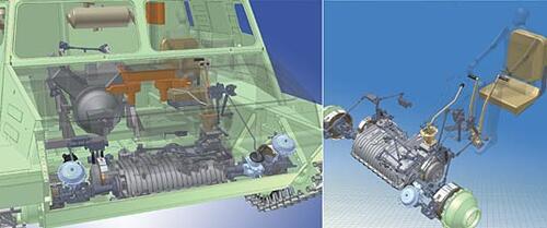 2-е место (Машиностроение) Исполнитель: Вуккерт В.В. (Институт «Рубцовский машиностроительный завод») Проект: «Установка трансмиссии и приводов управления на гусеничный транспортер-тягач» Выполнен в программе: Autodesk Inventor Series