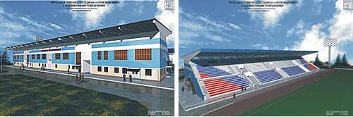 Рис. 3. Дизайн-концепция западной трибуны стадиона «Первомайский» (разработчик - А.С. Сидоров)