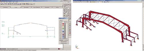 Рис. 9. Расчетные модели ледовой арены с размером центральной части 45×84 м, г. Нефтекамск (разработчик - М.А. Горбушко)