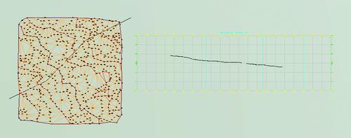 Просмотр сечения по произвольной линии