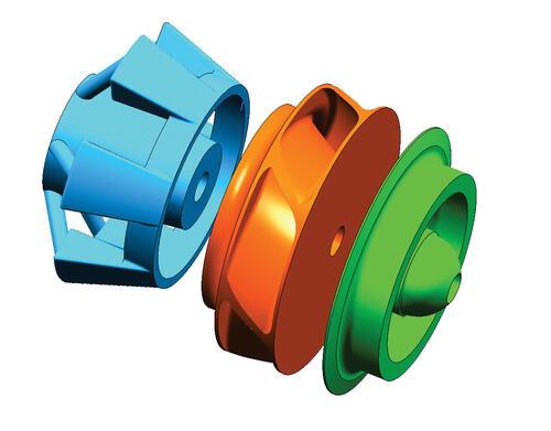 Рис. 1. Математическая модель колеса, сформированная в пакете Unigraphics NX