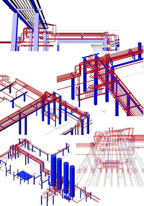 Рис. 16. Фрагмент проекта реконструкции установки Л24/6. Пример чертежа, выполненного в модуле «Трубопроводы»