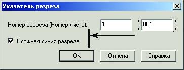 PS Конструкции. Указатель разреза