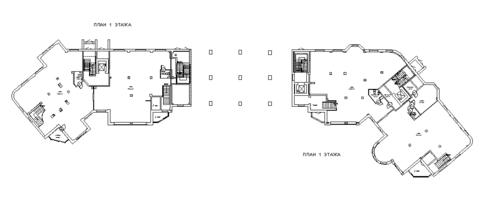 План 1 этажа здания
