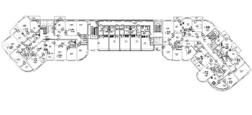 План 3 этажа здания