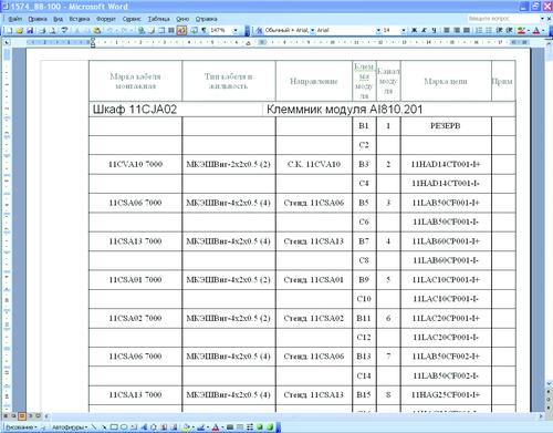 Схема заполнения сборок
