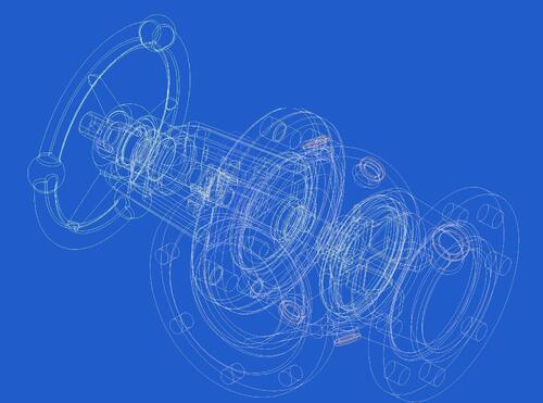 Рис. 1. Каркасная 3D-модель кингстона (выполнено в Autodesk Inventor 11)