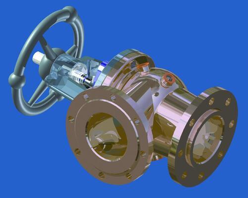 Рис. 2. Твердотельная 3D-модель кингстона (выполнено в Autodesk Inventor 11)