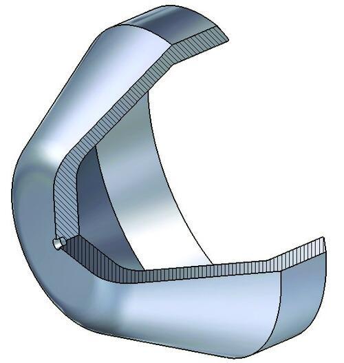 Трехмерная модель детали, построенная в Autodesk Inventor 10