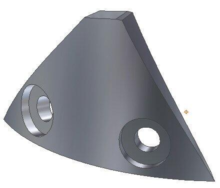 Трехмерные модели деталей, построенные в Autodesk Inventor 10. Сектор 1