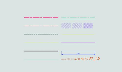Рис. 5. Графический вид шаблона типов линий