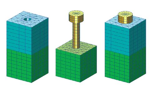 Рис. 3. Сборка для отработки приема моделирования затяжки болтов
