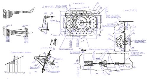 Рис. 5. Фрагмент гибридного чертежа, содержащего как векторную, так и растровую графику