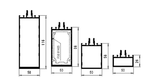 Рис. 2. Параметрический ряд ригелей F50
