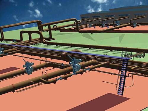 Фрагмент трехмерной модели проектируемого объекта