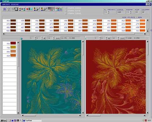 Рис. 3. Окно программы TreePaint при работе с колоритами