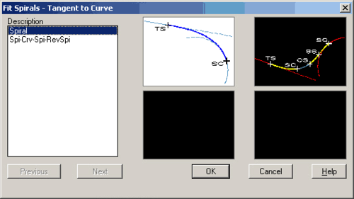 Рис. 4. Способы задания переходных кривых
