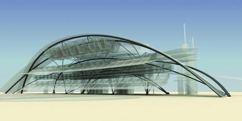 Стадион в городе Монтеррей (Мексика). Проектировщик - компания Studio class called «Ca'tedra Blanca»
