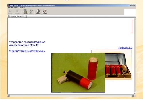 Рис. 10. Фрагмент ИЭТР с вмонтированным видеороликом
