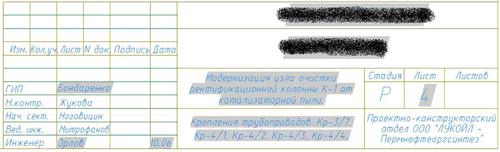 Рис. 1. Типовой штамп основной надписи с полями