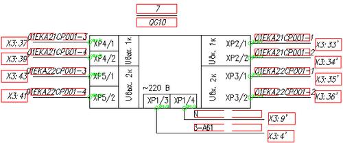 Рис. 8. Фрагмент схемы монтажных соединений