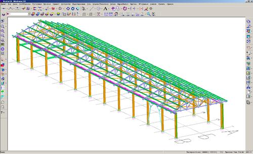 Рис. 1. Вид конструкции в среде моделирования StruCad V12