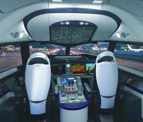 Boeing 787. Кабина пилотов