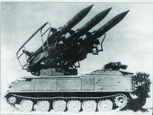 Рис. 1. Ракеты «3М9» производства ДМЗ на зенитном ракетном комплексе «Куб»