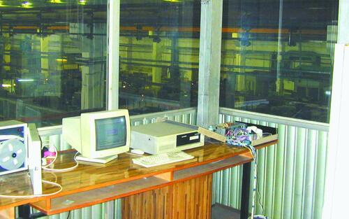 Рис. 21. Управляющий вычислительный комплекс на базе компьютеров IBM PC в составе локальной станочной сети ГПК после модернизации (2001 г.)