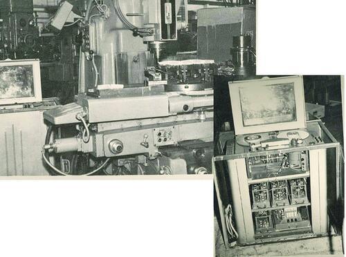 Рис. 3. Первый станок с ЧПУ модели ФП-4